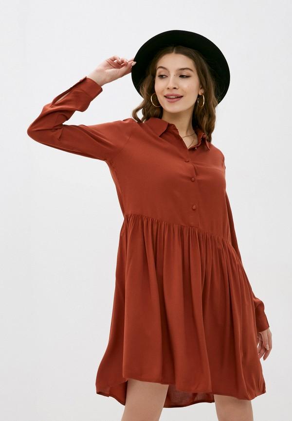 женское повседневные платье fresh made, коричневое