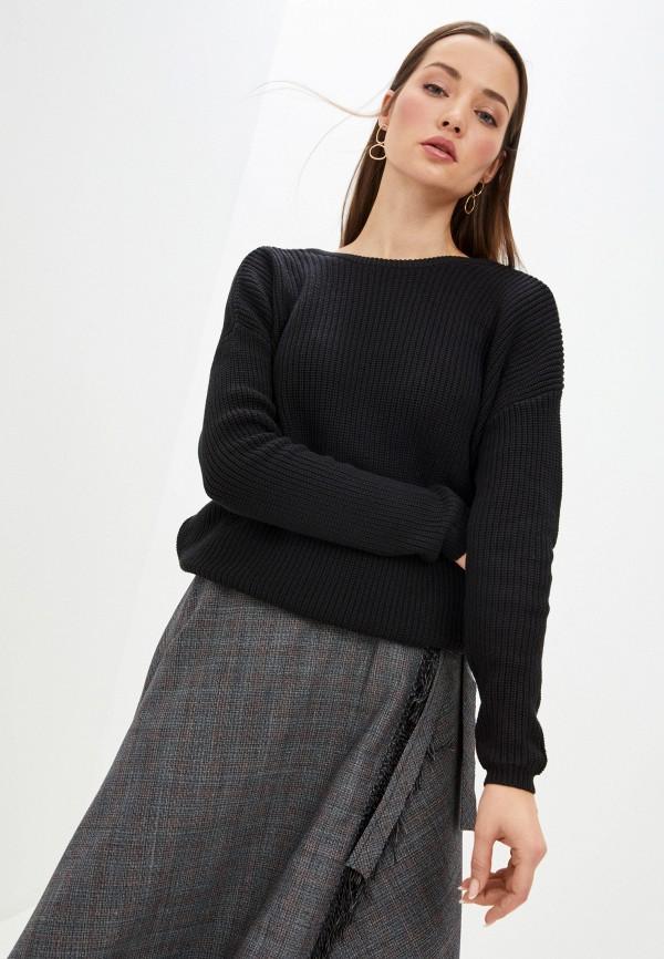 женский пуловер fresh made, черный