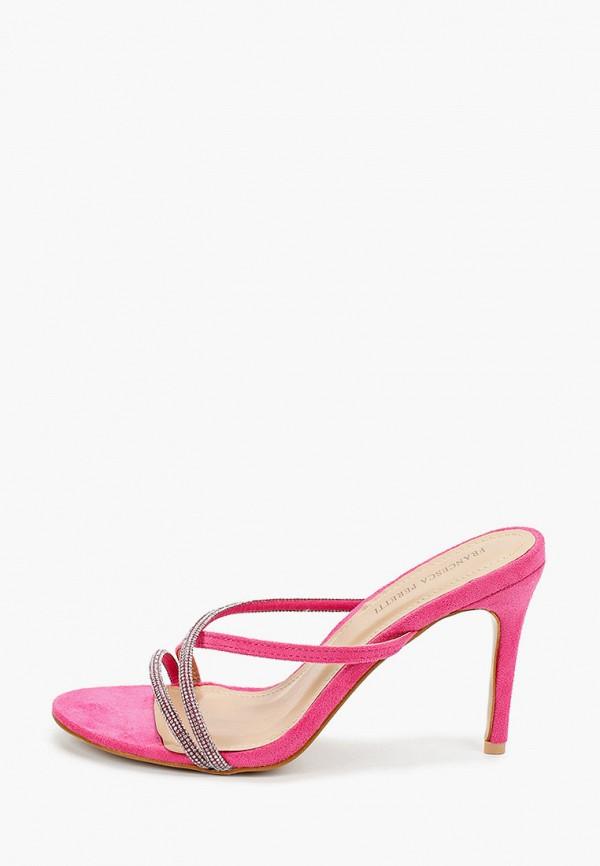 женское сабо francesca peretti, розовое
