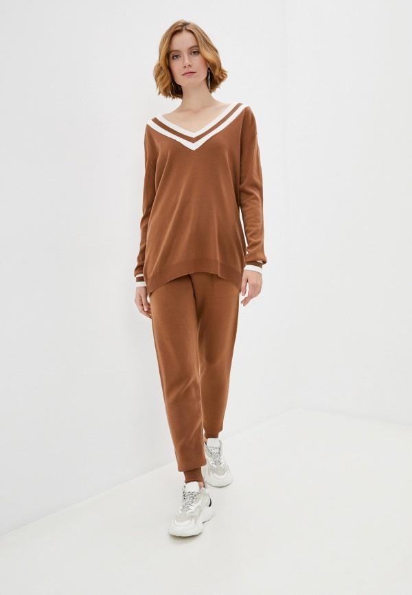 женский костюм francesca peretti, коричневый