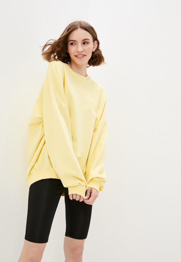 женский свитшот francesca peretti, желтый