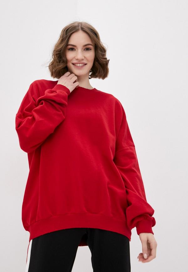 женский свитшот francesca peretti, красный
