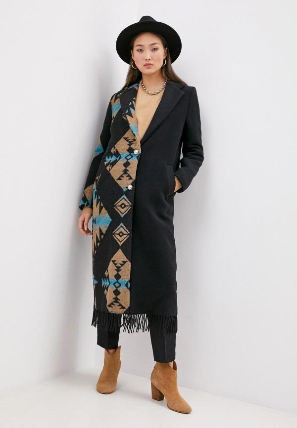 женское пальто front street 8, черное