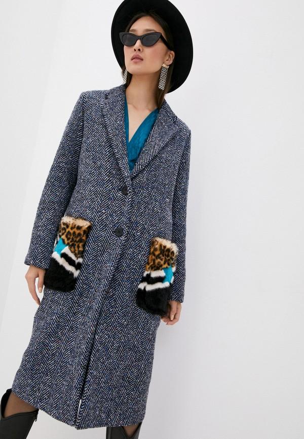 женское пальто front street 8, синее