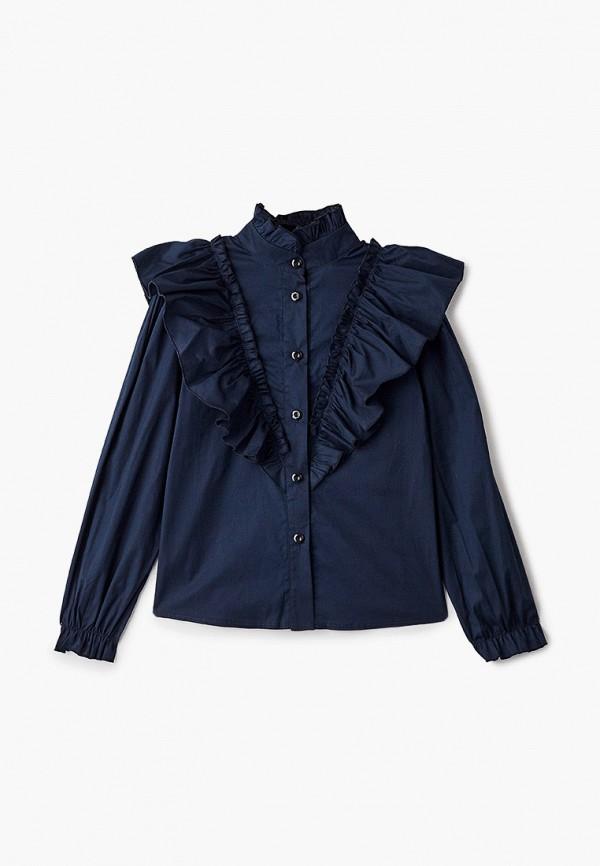 блузка fridaymonday для девочки, синяя