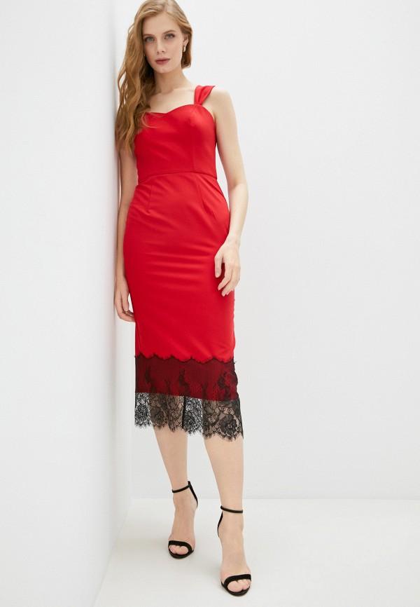женское вечерние платье fridaymonday, красное