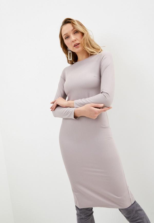 женское платье-футляр fridaymonday, бежевое