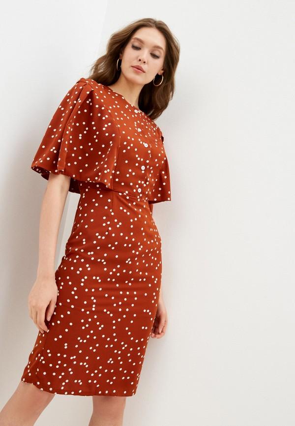 женское повседневные платье fridaymonday, коричневое