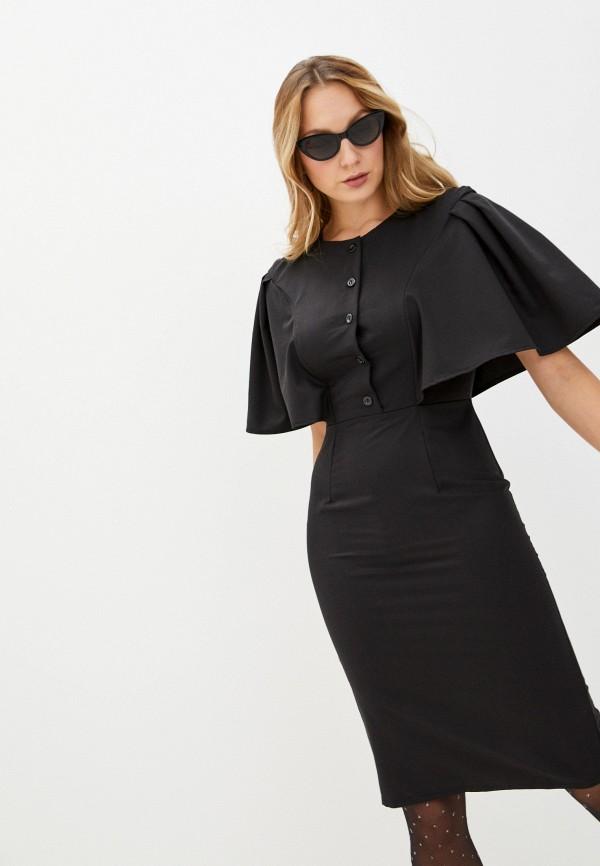 женское платье-футляр fridaymonday, черное