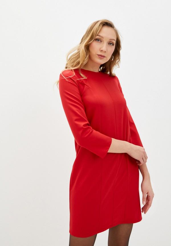 женское платье-футляр fridaymonday, красное