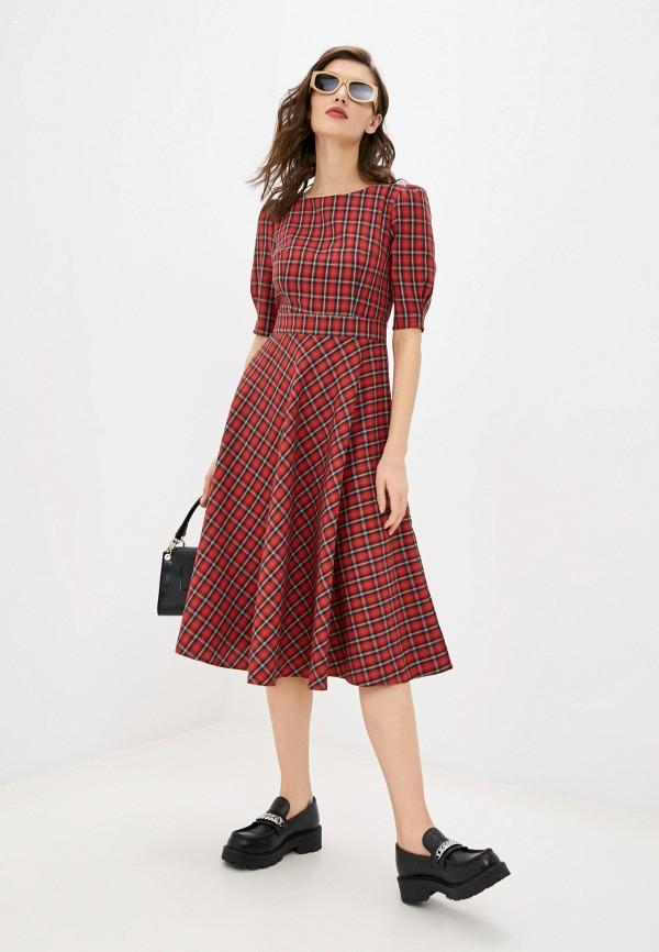 женское повседневные платье fridaymonday, красное