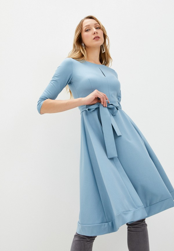 женское повседневные платье fridaymonday, голубое