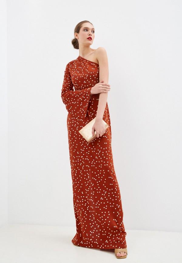 женское вечерние платье fridaymonday, коричневое