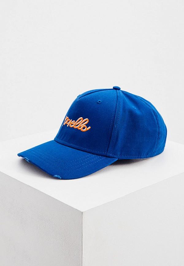 мужская бейсболка frankie morello, синяя