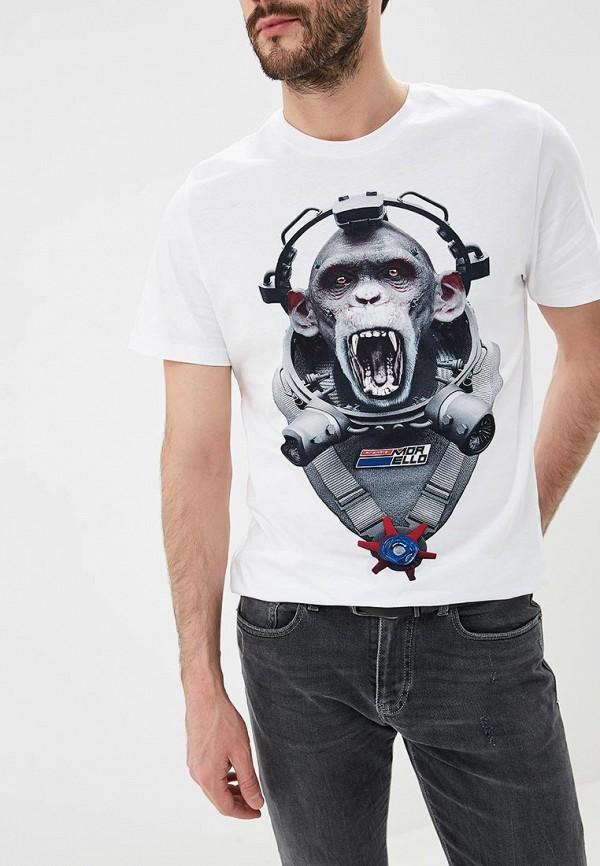 мужская футболка frankie morello, белая