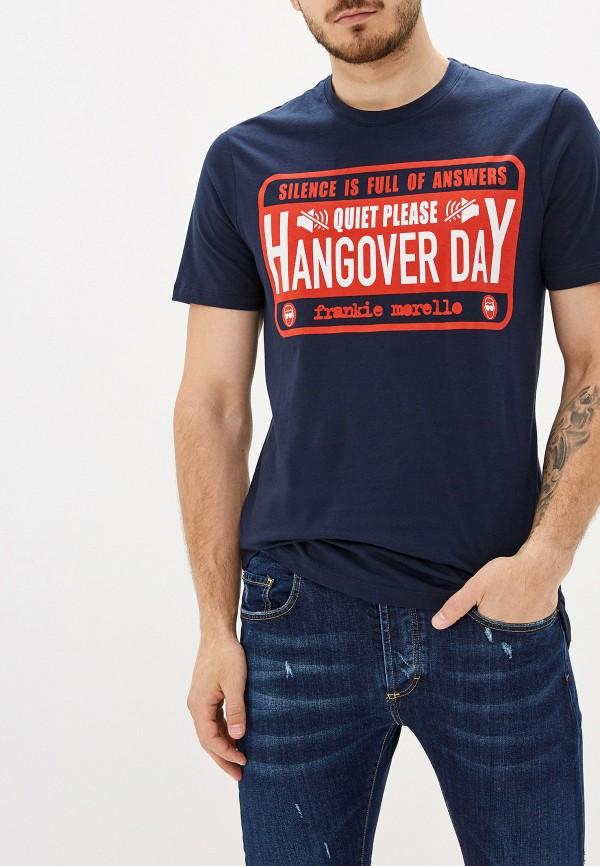 мужская футболка frankie morello, синяя