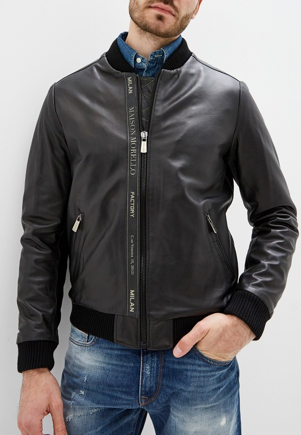 мужская куртка frankie morello, черная