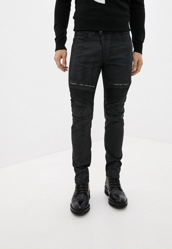 мужские зауженные джинсы frankie morello, черные