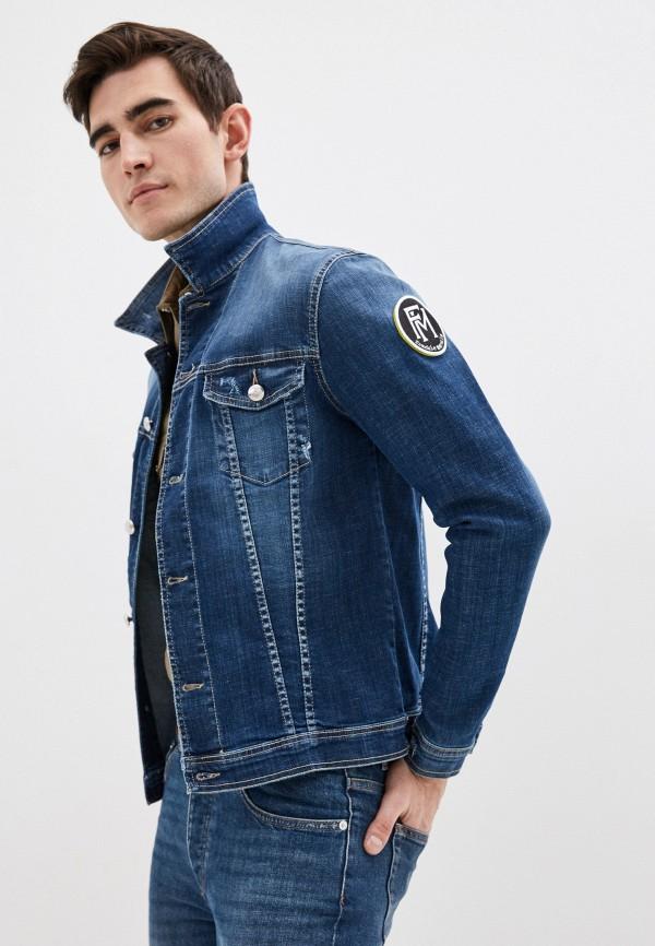 мужская джинсовые куртка frankie morello, синяя
