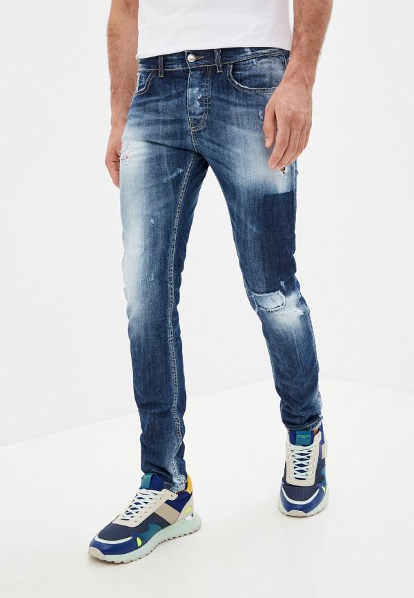 мужские зауженные джинсы frankie morello, синие