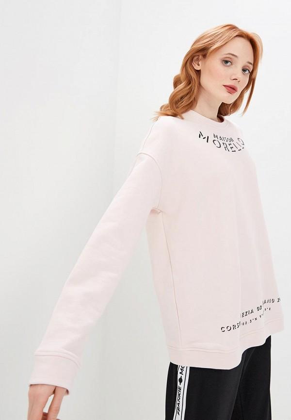 женский свитшот frankie morello, розовый