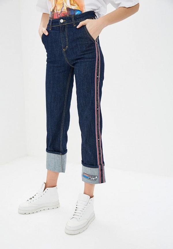 женские прямые джинсы frankie morello, синие