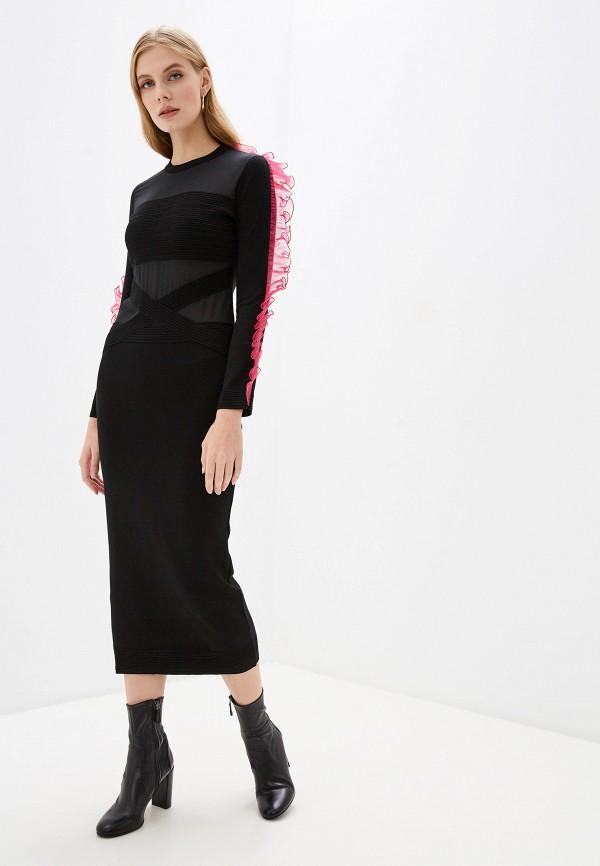 женское повседневные платье frankie morello, черное