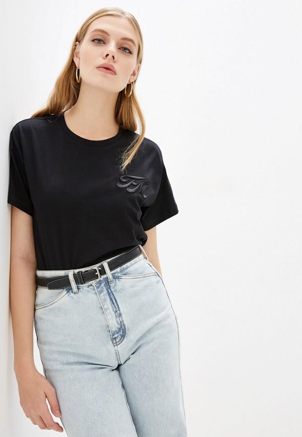 женская футболка frankie morello, черная