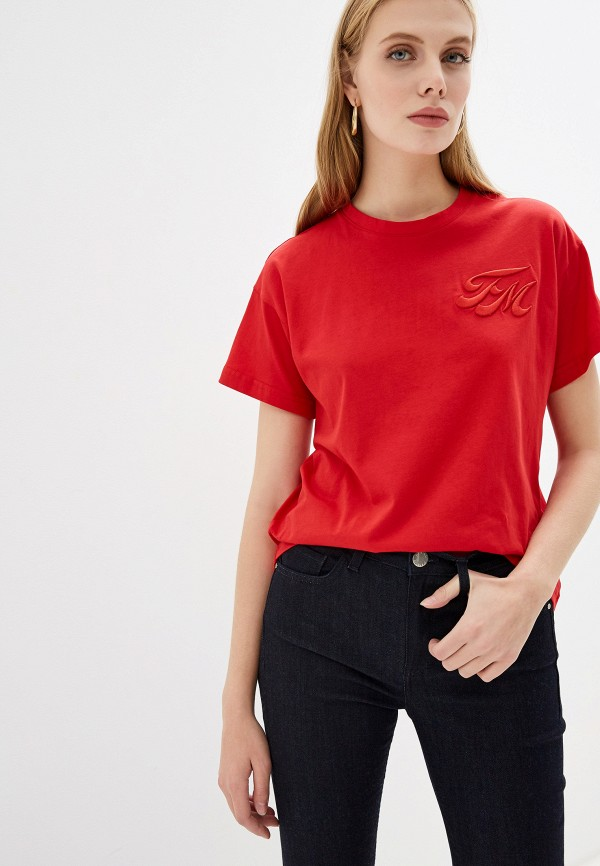 женская футболка frankie morello, красная