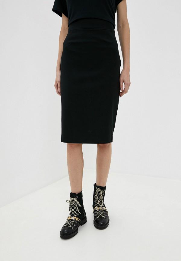 женская прямые юбка frankie morello, черная