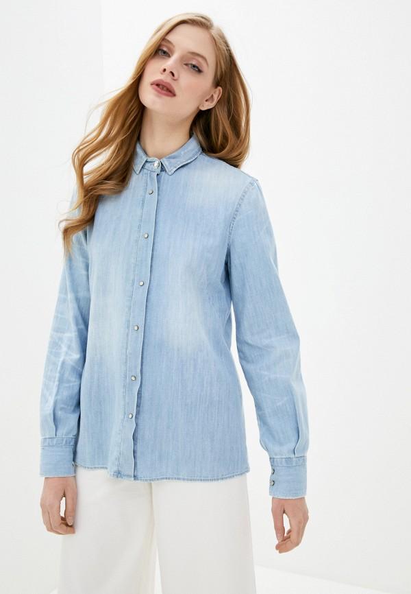женская джинсовые рубашка frankie morello, голубая