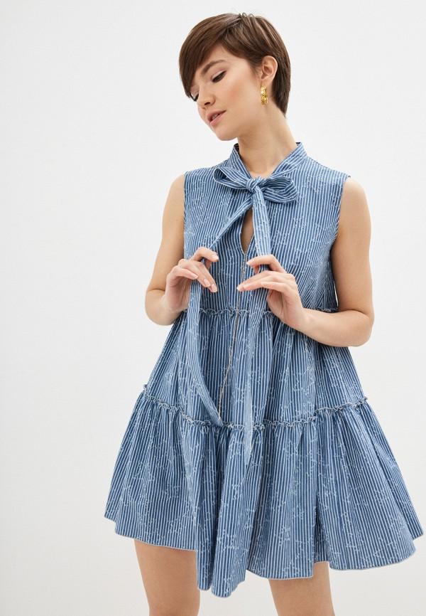 женское повседневные платье frankie morello, синее
