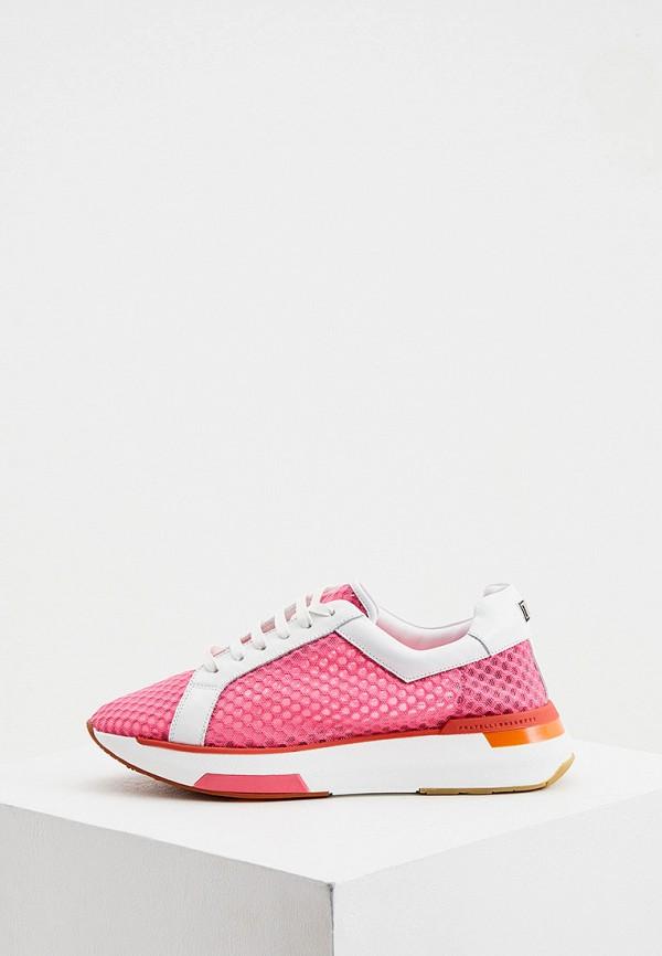 женские кроссовки fratelli rossetti one, розовые