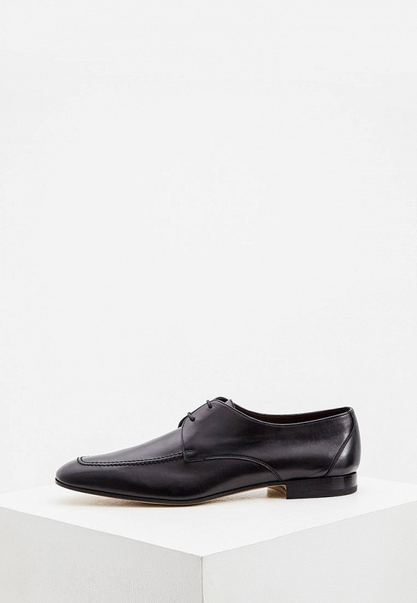 мужские туфли-дерби fratelli rossetti, черные