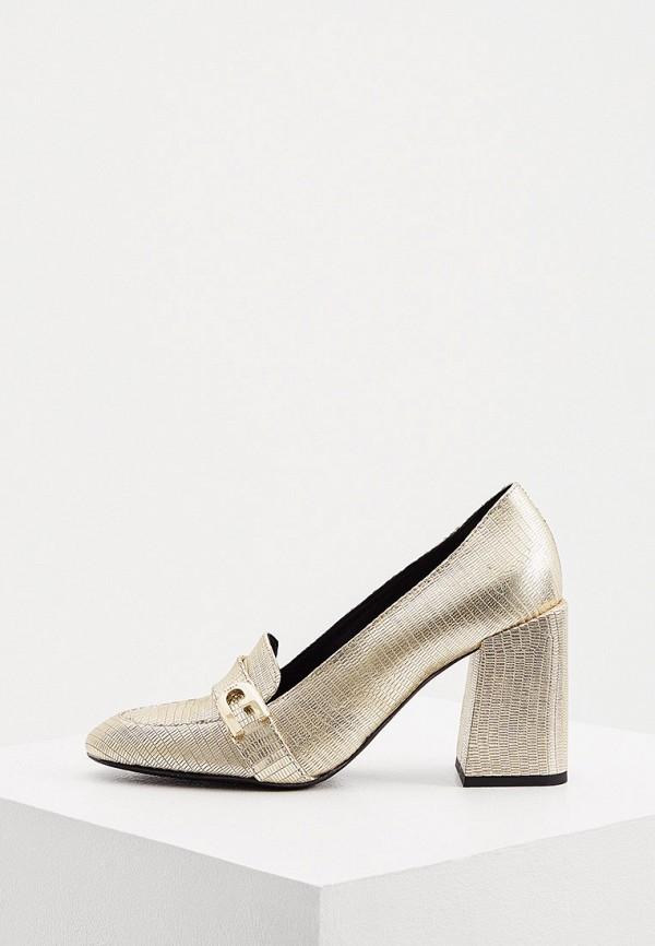 женские туфли с закрытым носом furla, золотые