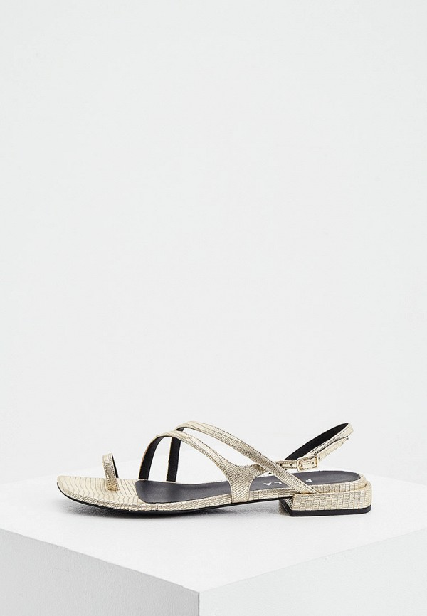 женские сандалии furla, золотые