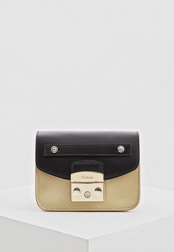женская сумка furla, золотая