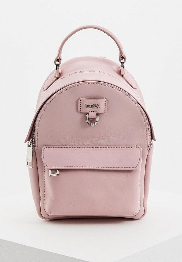 женский рюкзак furla, розовый