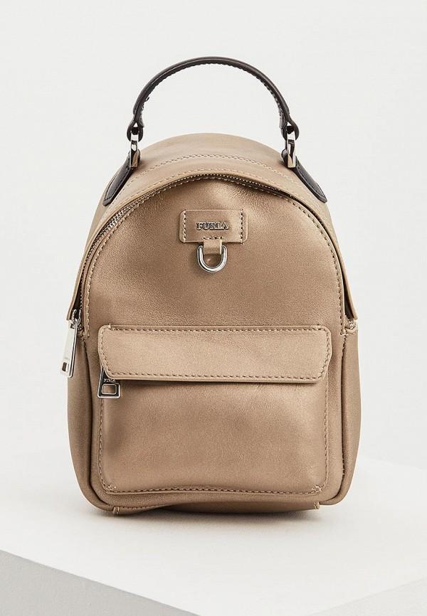 женский рюкзак furla, золотой