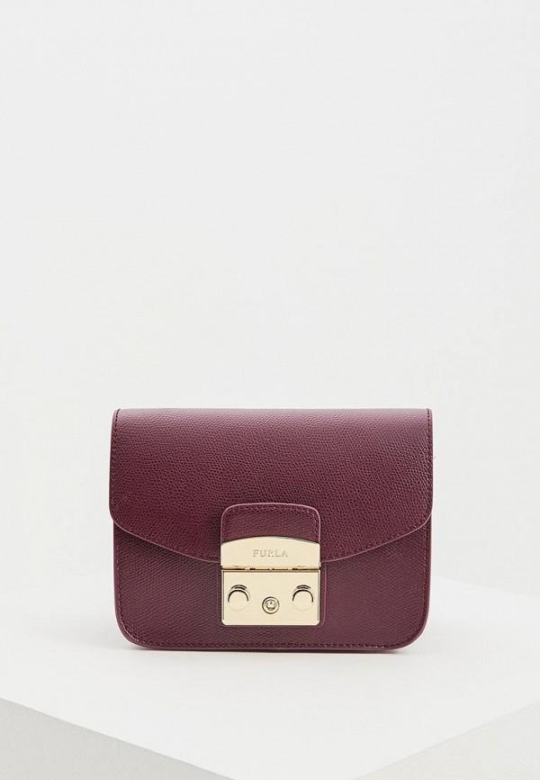 женская сумка furla, фиолетовая