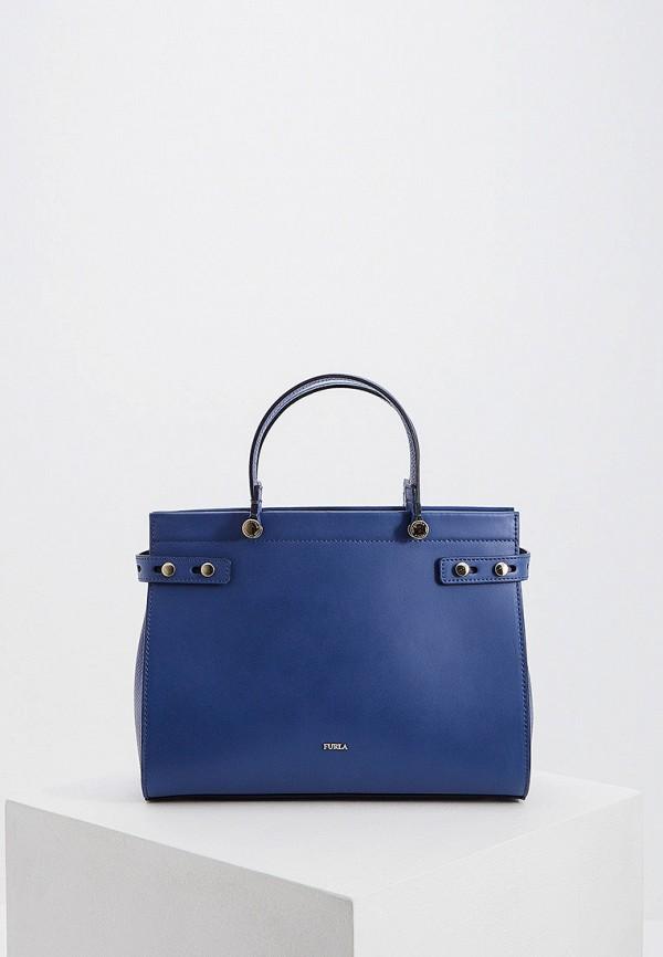 женская сумка furla, синяя
