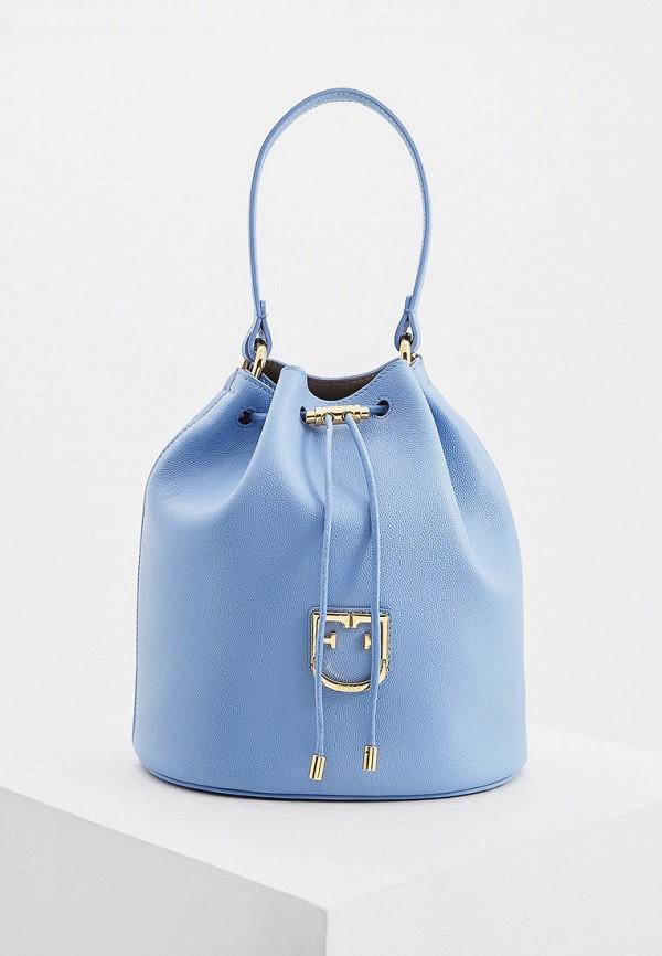 женская сумка furla, голубая