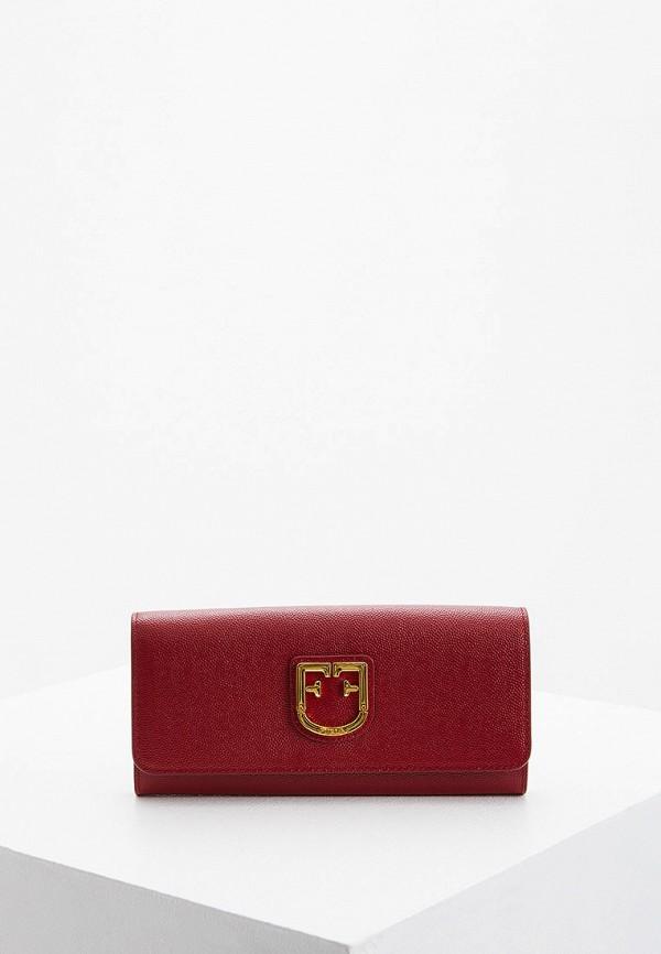 женский кошелёк furla, бордовый