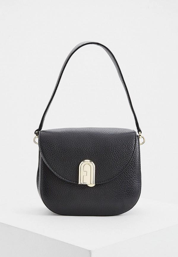женская сумка через плечо furla, черная