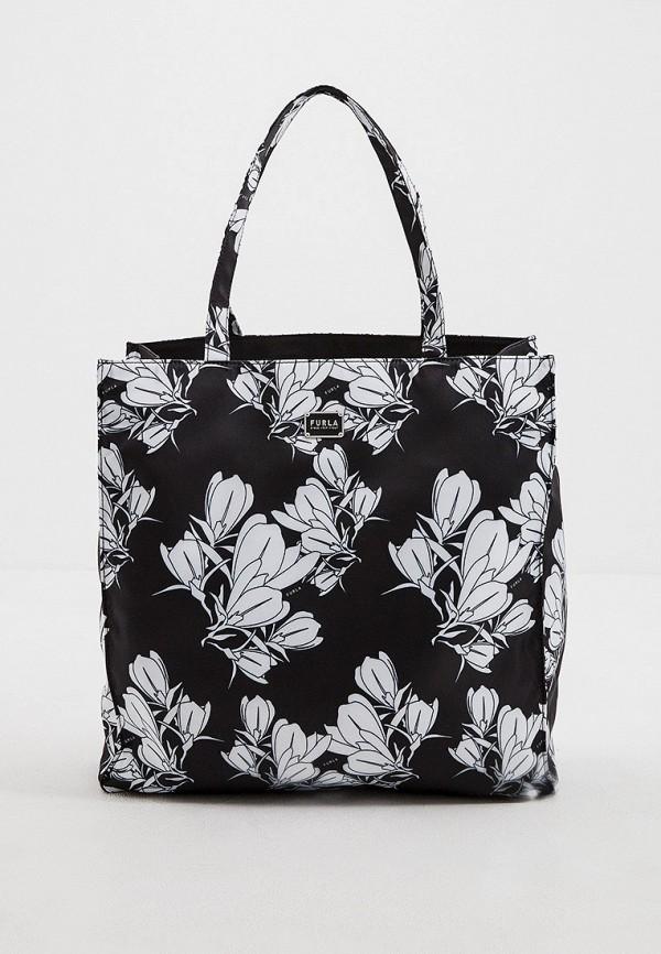 женская сумка-шоперы furla, черная