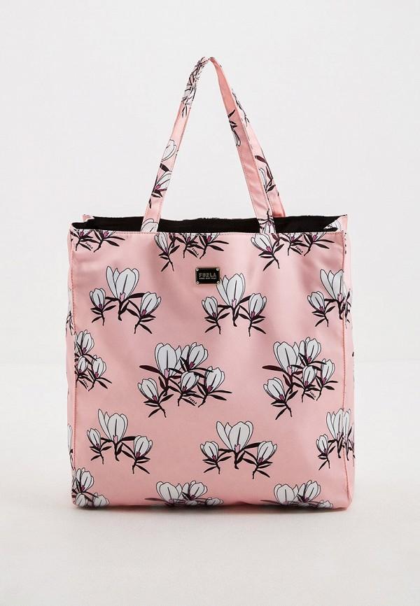 женская сумка-шоперы furla, розовая