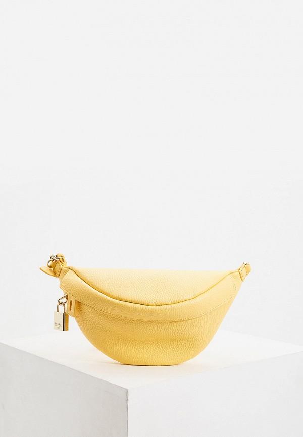 женская поясные сумка furla, желтая