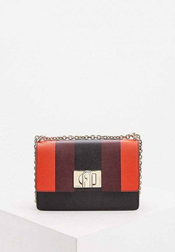 женская сумка через плечо furla, разноцветная
