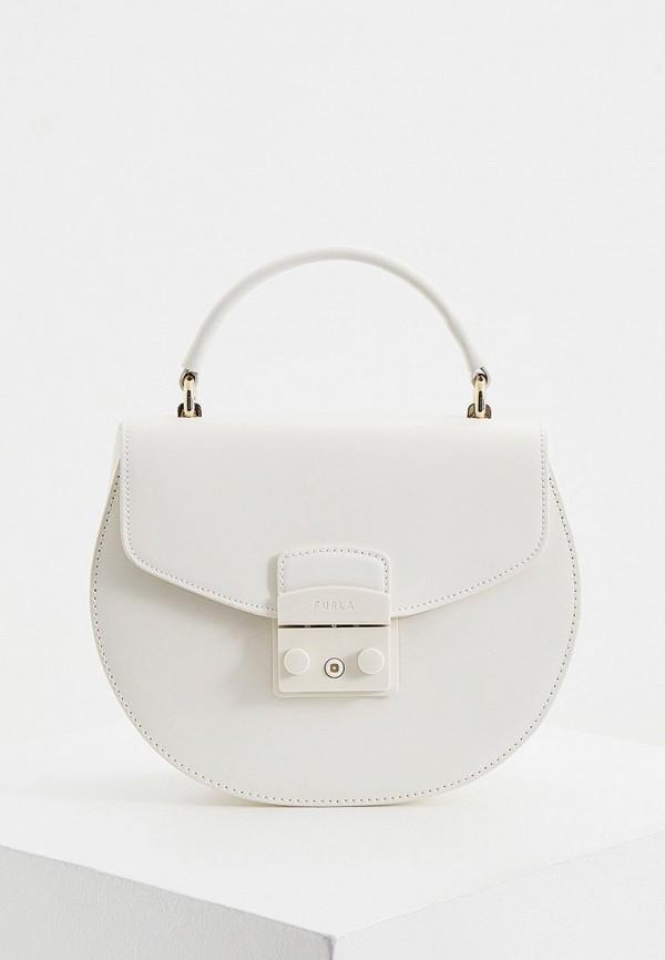 женская сумка с ручками furla, белая