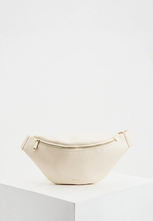 женская поясные сумка furla, бежевая